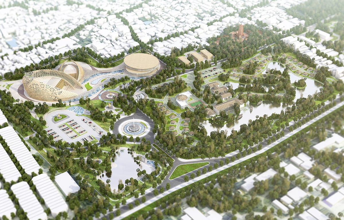 Artists impression of Bat Trang Ceramic Village Tourism Masterplan
