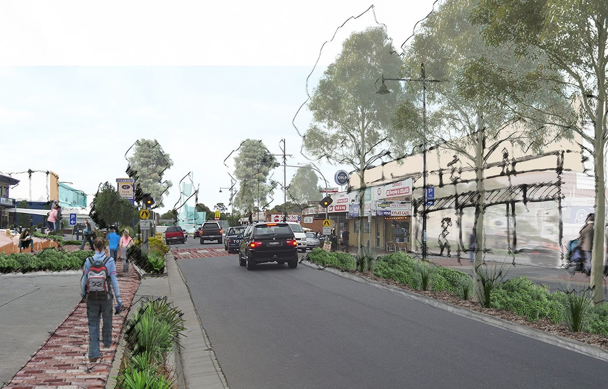 streetview of Laverton, render